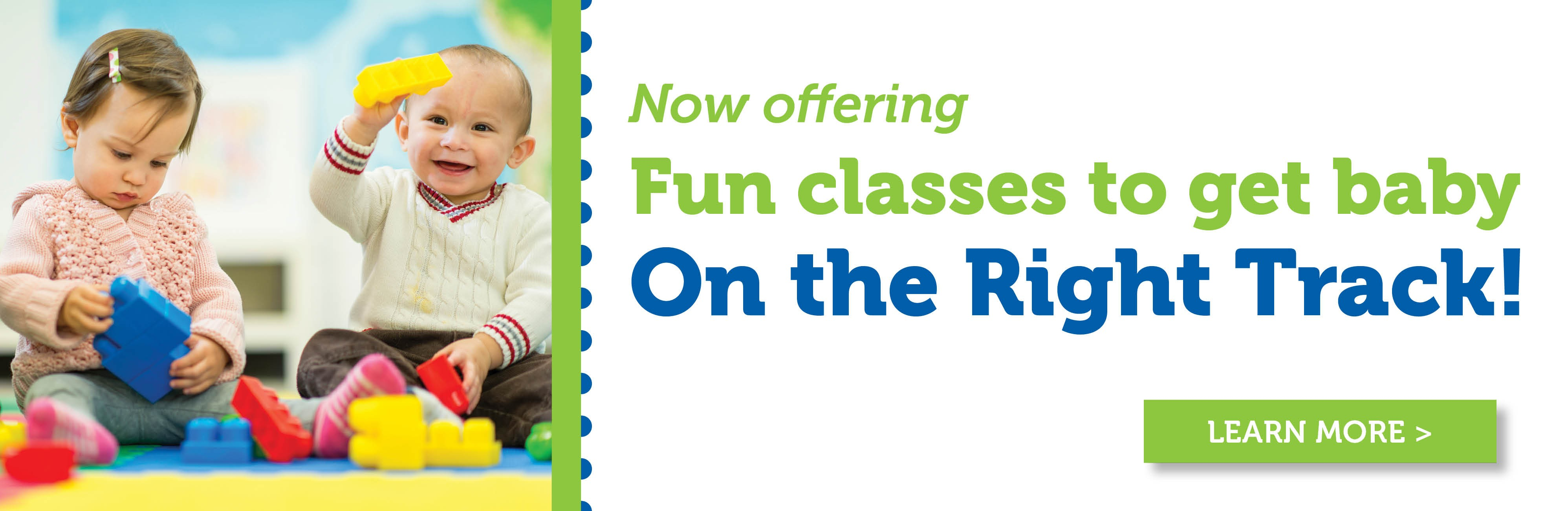 Learn more about On The Right Track classes for baby