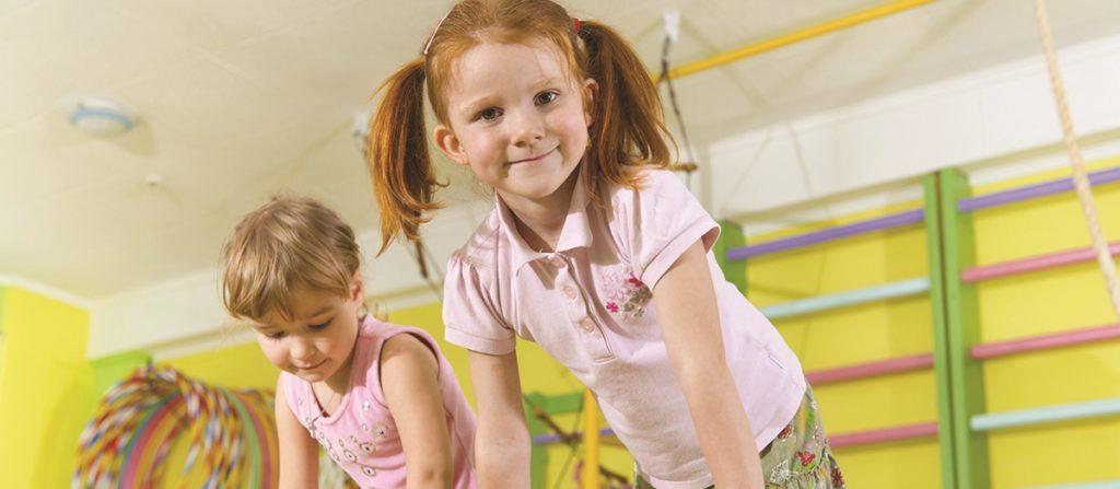 Cute children in gym