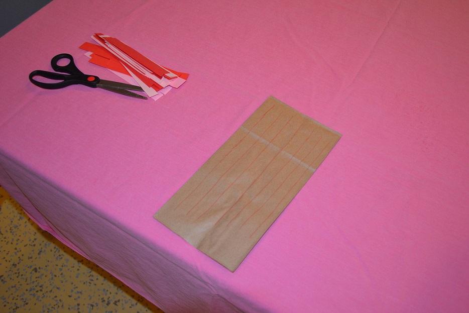 making a valentine's day card holder