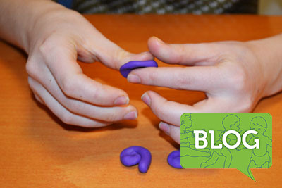 blog post of fine motor exercises using putty