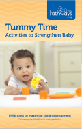 Tummy Time | Activities to Strengthen Baby | Tummy Time brochure cover