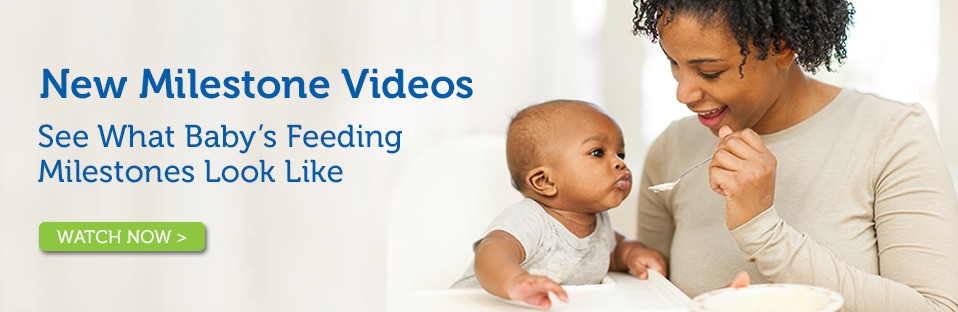 New feeding milestones video banner