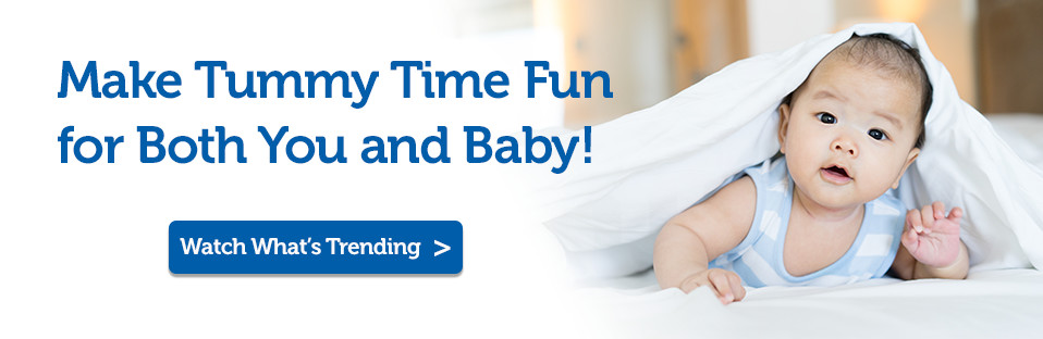 Parents guide to tummy time banner
