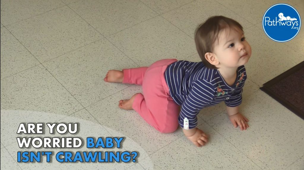 Worried baby isn't crawling